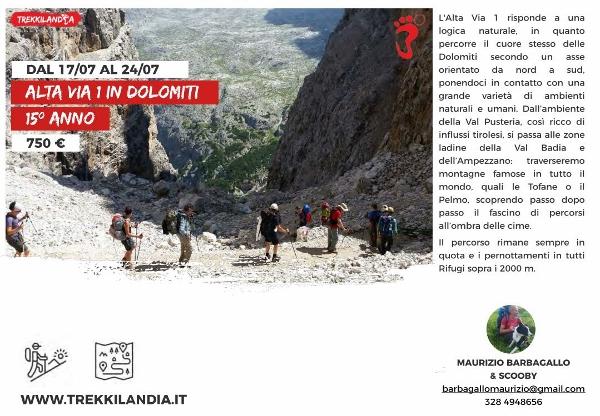 Alta Via 1 Dolomiti luglio secondo turno