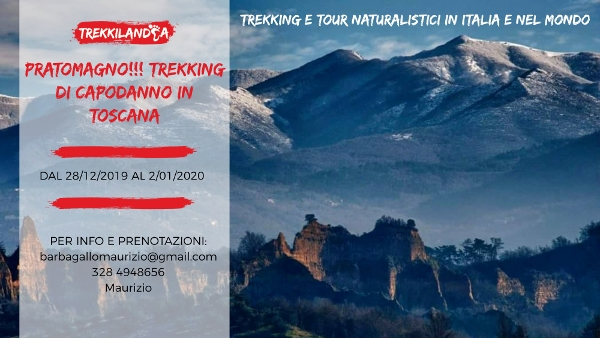 trekking di capodanno in toscana in Pratomagno